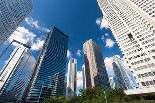 新宿の高層ビル街の写真素材 [FYI01381969]