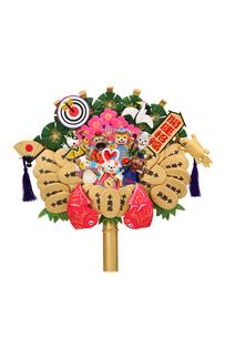 戌の七福神の熊手の写真素材 [FYI01382416]