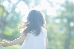 女の子の後ろ姿の写真素材 [FYI01383962]