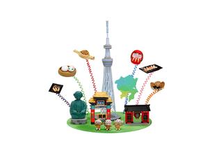 関東の観光地とご当地名物の写真素材 [FYI01384059]
