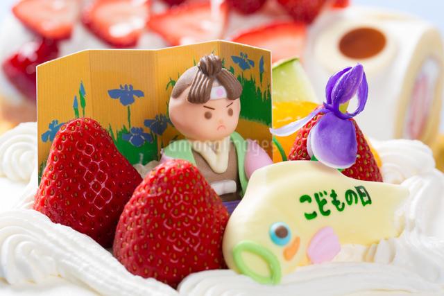 子供の日のケーキの写真素材 [FYI01388543]