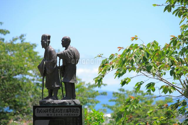奥の細道芭蕉像の写真素材 [FYI01388903]