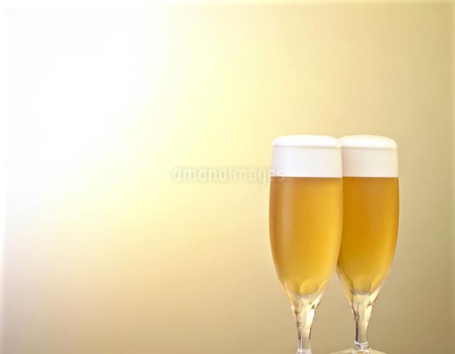 グラスに注がれたビールの写真素材 [FYI01391959]