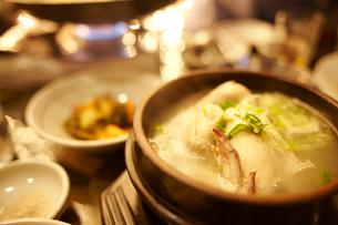 韓国のスープのサムゲタンの写真素材 [FYI01393821]