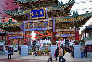 中華街・横浜媽祖廟の写真素材 [FYI01393978]