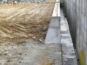 住宅地の造成工事の写真素材 [FYI01394016]