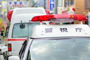 救急車とパトカーの写真素材 [FYI01396360]