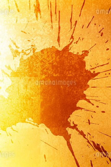 金箔と墨の柄素材の写真素材 [FYI01396474]