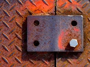 鉄板の接続金具の写真素材 [FYI01398524]
