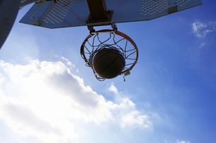 バスケットゴールの写真素材 [FYI01400933]
