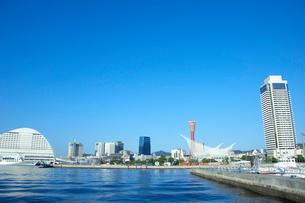神戸ポートタワーと海洋博物館の写真素材 [FYI01401008]