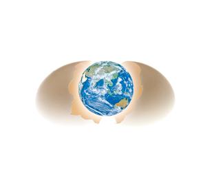卵と地球のイラスト素材 [FYI01402540]