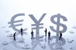 通貨マークの金融イメージの写真素材 [FYI01402977]