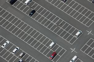 駐車場の俯瞰の写真素材 [FYI01403528]