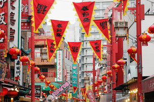 南京町の春節祭の写真素材 [FYI01403704]