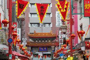 南京町の春節祭の写真素材 [FYI01404039]