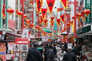 神戸南京町の春節祭の写真素材 [FYI01404236]