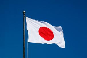 はためく日章旗の写真素材 [FYI01405328]