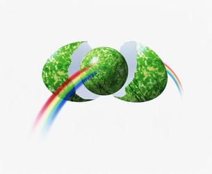 CG 虹とタマゴのイラスト素材 [FYI01405504]