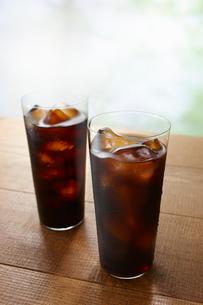 2つのアイスコーヒーの写真素材 [FYI01405542]