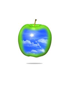 空とリンゴのイラスト素材 [FYI01405781]
