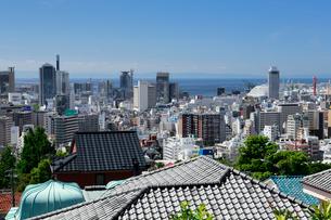 港みはらし台からの神戸市街の写真素材 [FYI01405799]