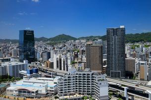 ポートタワーからの神戸市街の写真素材 [FYI01406714]