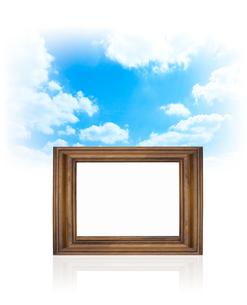 空と額の写真素材 [FYI01407124]