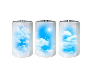 電池と空の写真素材 [FYI01407547]