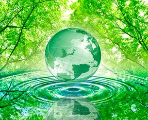 新緑と地球の写真素材 [FYI01408689]