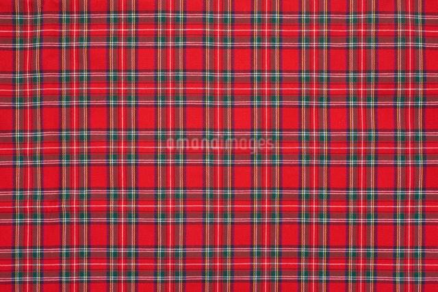 タータンチェックの布の写真素材 [FYI01409479]