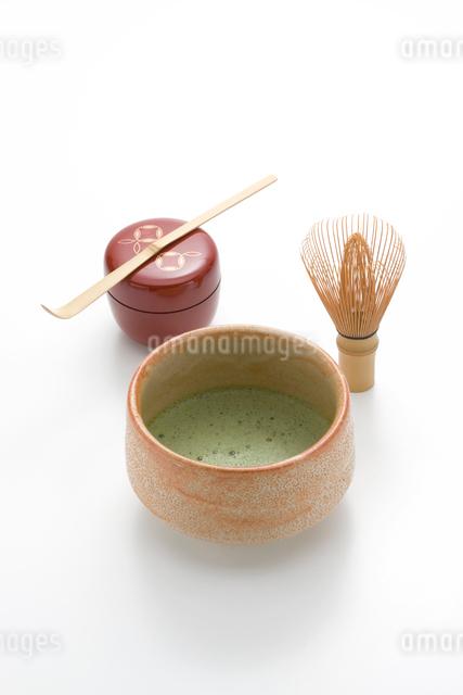 抹茶と茶道具の写真素材 [FYI01410034]