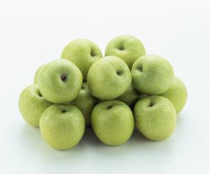 青りんごの集合「王林」の写真素材 [FYI01410099]