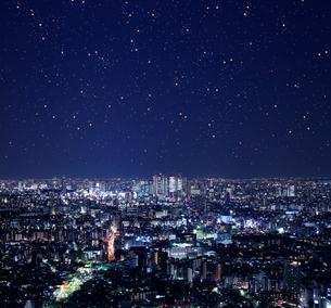 新宿副都心方面の夜景の写真素材 [FYI01410270]