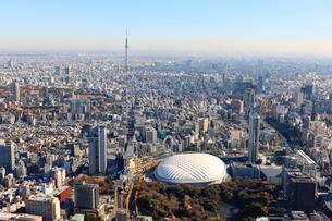 スカイツリーと東京ドームの写真素材 [FYI01412800]
