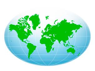 世界地図のイラスト素材 [FYI01413527]