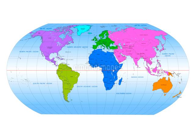 世界地図 国名入りのイラスト素材 [FYI01413635]