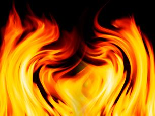 燃える炎の写真素材 [FYI01413712]