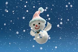 エンゼルの雪だるまの写真素材 [FYI01413731]
