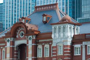 東京駅丸の内駅舎中央部の写真素材 [FYI01413734]