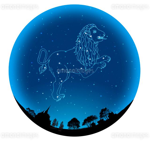 田園イメージの球体にしし座(12星座)の写真素材 [FYI01414580]