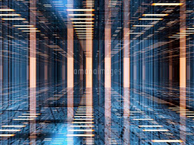 データの流れをイメージしたCGバックグラウンドのイラスト素材 [FYI01414763]