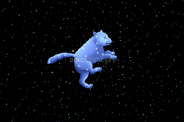 夜空に大熊座の写真素材 [FYI01415254]