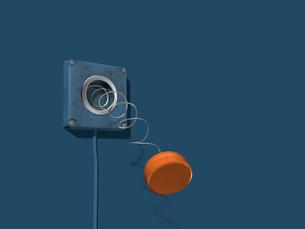 赤いボタンの壊れたスイッチのイラスト素材 [FYI01415339]