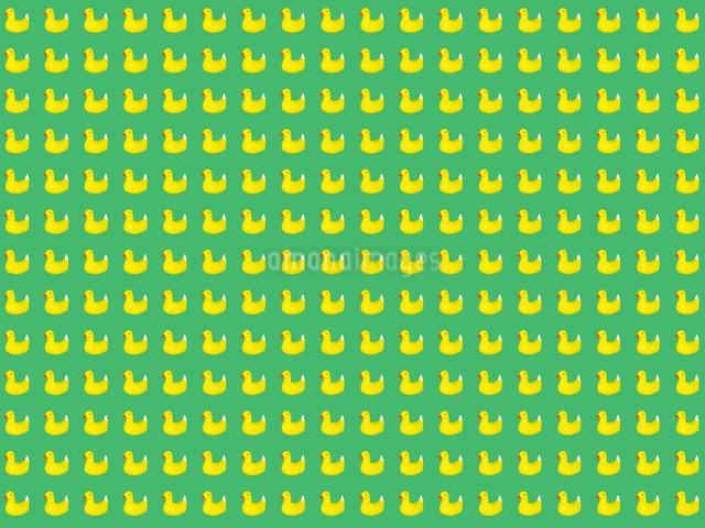 整列するたくさんの黄色いアヒルのおもちゃのイラスト素材 [FYI01415501]