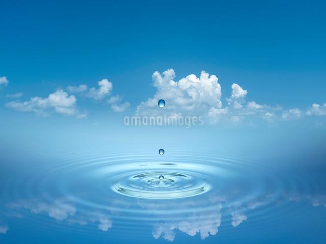 雲と波紋のイラスト素材 [FYI01415504]
