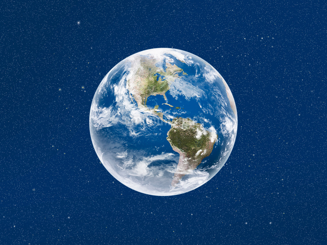 宇宙空間に浮かぶ地球 アフリカ側のイラスト素材 [FYI01415515]