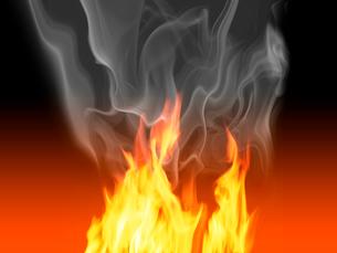 炎と白い煙の写真素材 [FYI01415522]