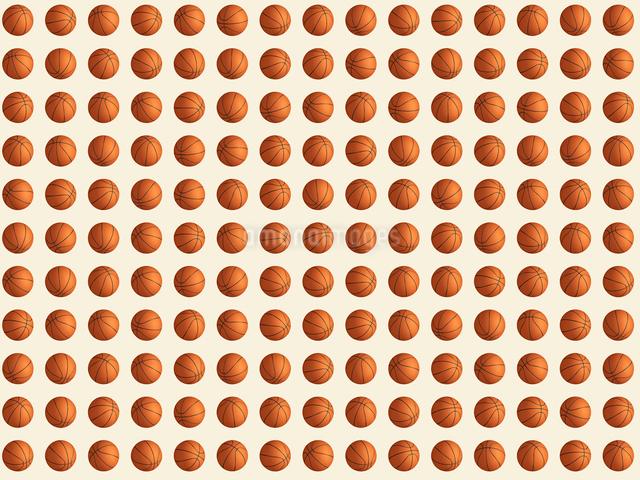 整列するたくさんのバスケットボールのイラスト素材 [FYI01415626]