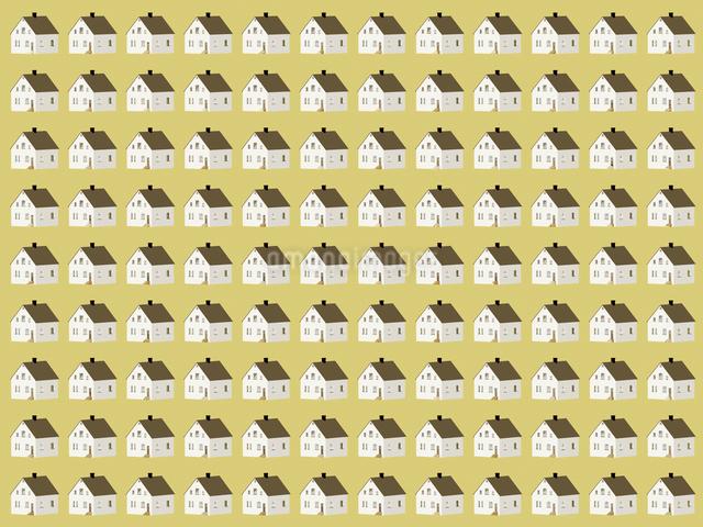 整列するたくさんの住宅のイラスト素材 [FYI01415694]